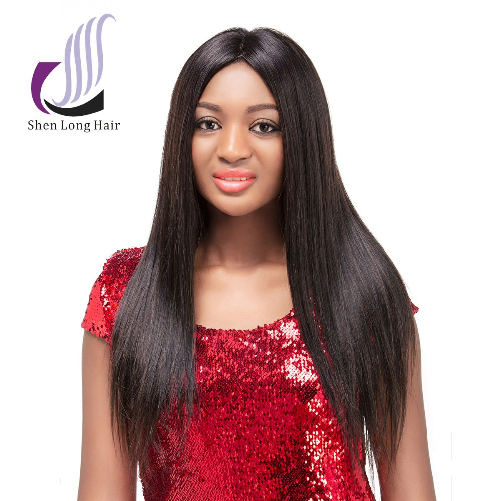 Alibaba Express 2015 China Best Wig Unprocessed Human Hair <strong>U</strong> Part Wig, <strong>14</strong> inch Silky Straight Remy <strong>U</strong> Part Wig For Black Women