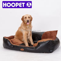 Pet products furniture dog bed leather PU leather bed