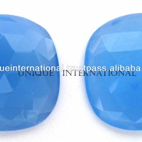 Light Blue Chalcedony Flat Slice Rose
