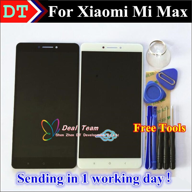 100% original vancca Touch Screen Digitizer + LCD Display for xiaomi <strong>max</strong>