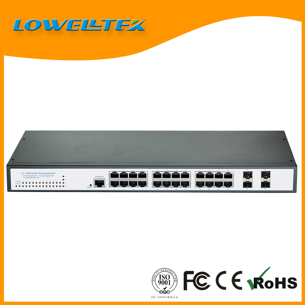 24*10/100/1000 ports & 4*1000 SFP ports Layer2 Plus Core Switch support Max.4x10G Expanding,ethernet switch 24v/