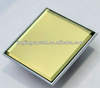 Free shipping 4 screw holes 32mm pitch Gold Crystal Mirror Handle for Big Door special hanle design in Stock