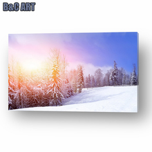China Suppliers Snow Pictures Fine Art Famous Acrylic Landscape Paintings