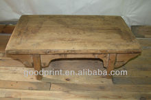 Untreated Wooden Funiture Side Table Vintage Coffee Table Kang Table