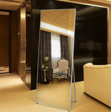 Nordic style square shaped stand dressing wall mirror