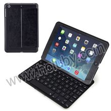New Arrival 7 Color Flip PU+Aluminum Hard Backlit Bluetooth Keyboard Case for iPad Mini 2 Retina