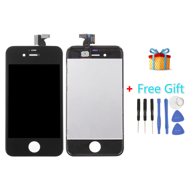 iPartsBuy 3 in 1 for iPhone 4S (LCD + Frame + Touch Pad +Free Gift ) Digitizer Assembly
