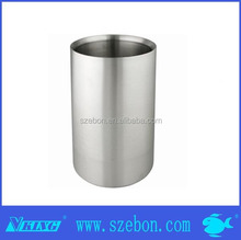 large metal stainless steel ice bucket with stand