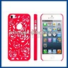 Cut Out Flower Design Plastic Case for iPhone 5 (Red)