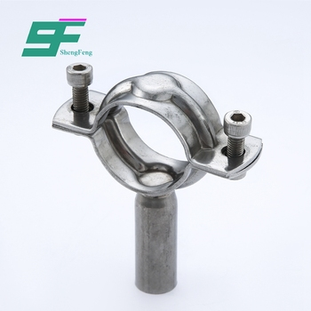 Supplier direct exquisite workmanship hygienic clamp stainless steel pipe holder