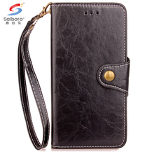 High quality design pu leather wallet case for iphone 7 7plus 6plus 6 5