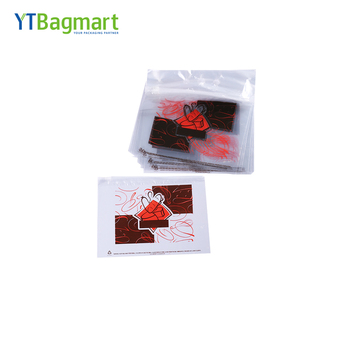 YTBagmart Printed Food Grade Clear Wicket Plastic Ziplock Slider Bag