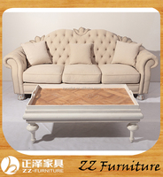french linen upholstered fabric sofa, 3 seat european style fabric sofa, wooden fabric sofa