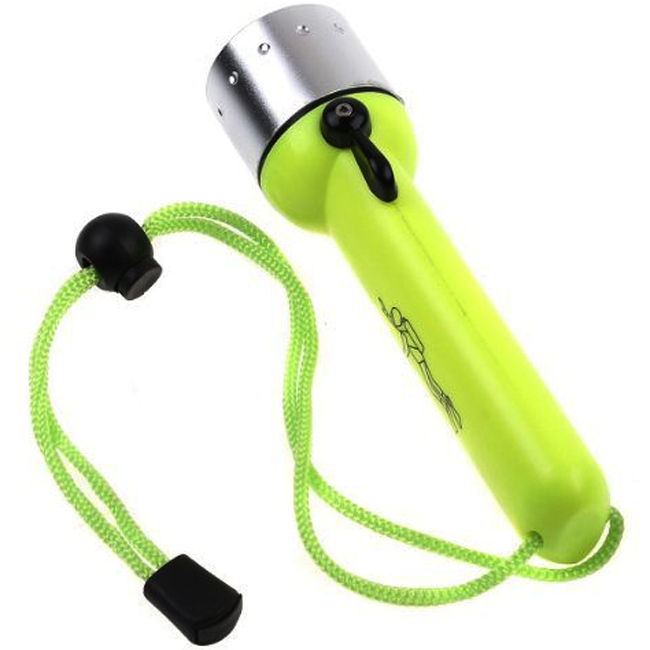Ultra bright ABS Plastic AA Dry Battery Powerful 3 Model XPE 3W Underwater LED Diving Flashlight