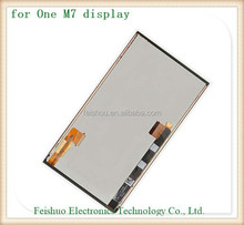 Factory Direct Sale for htc one m7 lcd pantalla, full lcd display touch screen digitizer for htc one m7 801e 801n with frame