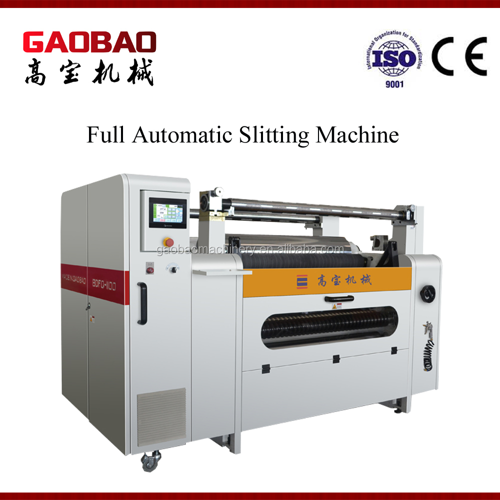 Full Automatic Adhesive Auto Paper Slitting And Rewinding Machine High Performance Convenient Durable