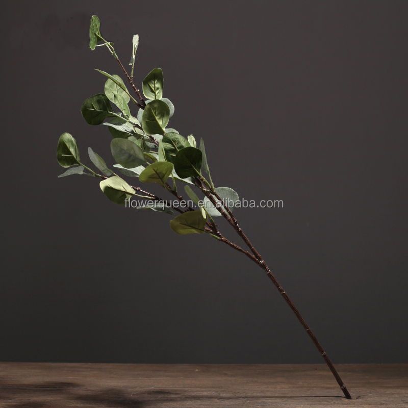 Artificial Eucalyptus Leaves Artificial Flower Silver Dollar Eucalyptus Silk Flowers Foliage Plants Fake Leaf Wedding Bouquets