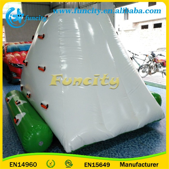 Commercial giant inflatable iceberg,water park floating water climbing iceberg for adults