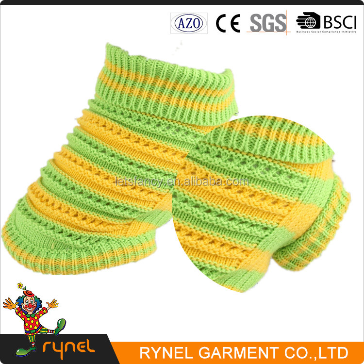 PGPC0190 New Style Fresh Production Pet Clothes Green Yellow Mesh Teddy Sweater Dog Clothes