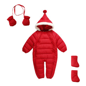 Mudkingdom baby winter clothes thickened down cotton climbing suit romper set