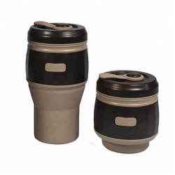 Porcelain Travel Coffee Mug With Silicone Lid