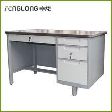 single cabinet computer desk combined single ark of desk stainless grey metal office desk