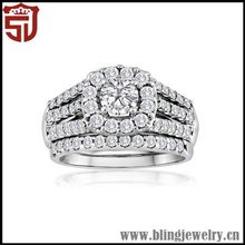 Top Quality Graceful Silver 2014 Popular Lovers Rings