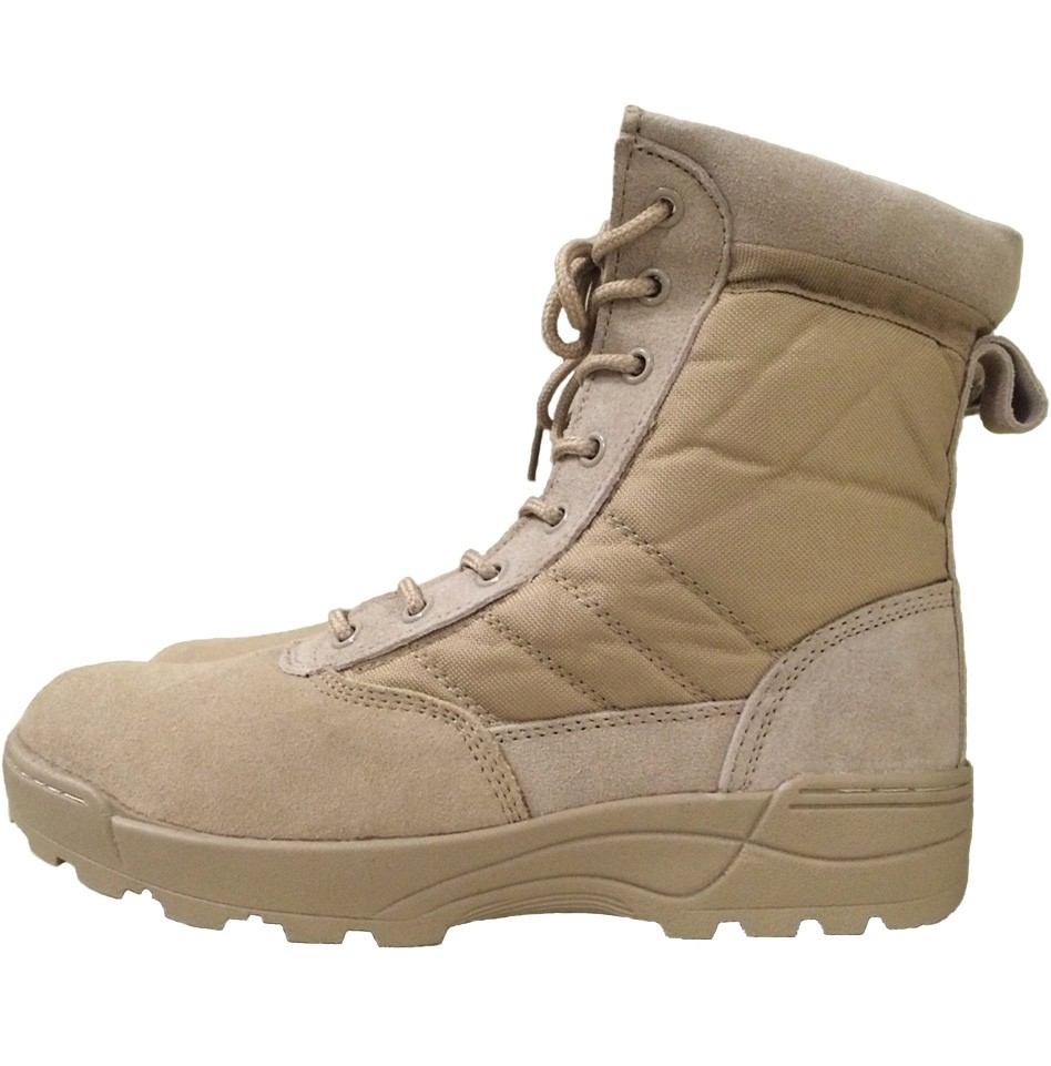 Loveslf hot sale beige army military desert boots for outdoor hiking huting