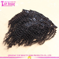 Factory Wholesale 100 Human Hair Afro Kinky Curly Clip In Hair Extensions For Black Women