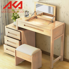 Bedroom furniture sets vintage style mirrored wooden vanity dressing table