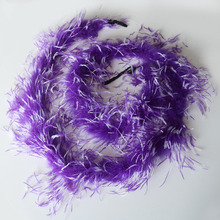 Factory supply 10 yard dyed four layers ostrich feather boa