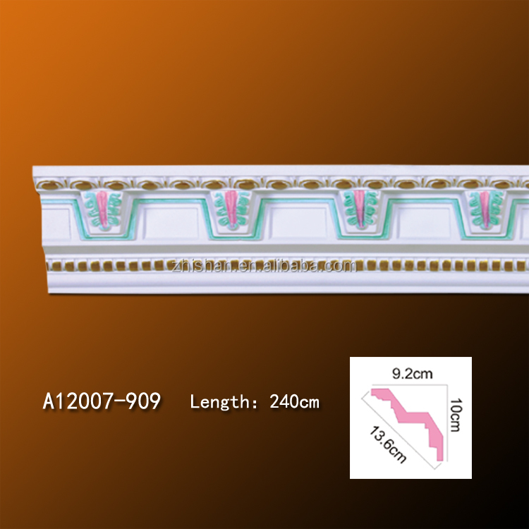 Best quality carved crown molding PU corner mouldings