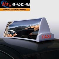 Outdoor waterproof taxi led top light advertising