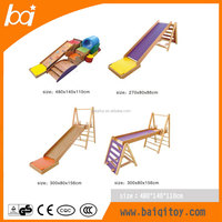 Hot sell indoor wood children playground equipment