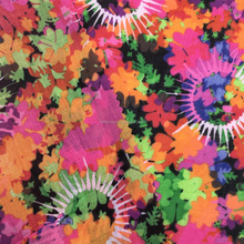 Colorful flower digital print pure ramie fabric loose dress fabric