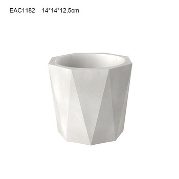 White glazed large cheap ceramic flower pots and planter