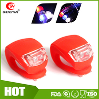 Ultra Bright Waterproof Silicon LED BIKE LIGHT SET - 2 LEDs Front + Rear Bicycle / Cycling Safety Warning Light In Red