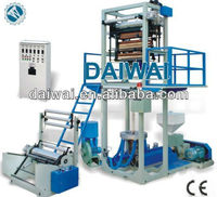 Hdpe blown film extrusion line with Double Winder and Rotary Die Head