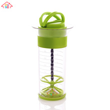 Plastic Manual oil salad sauce dressing bottle mixer