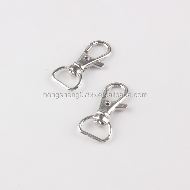 15mm Ribbon strap accessories metal swivel clasp hook for sale