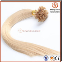 Wholesale Virgin Remy 100 Human Hair Blonde Color #613 U Tip Hair Extension