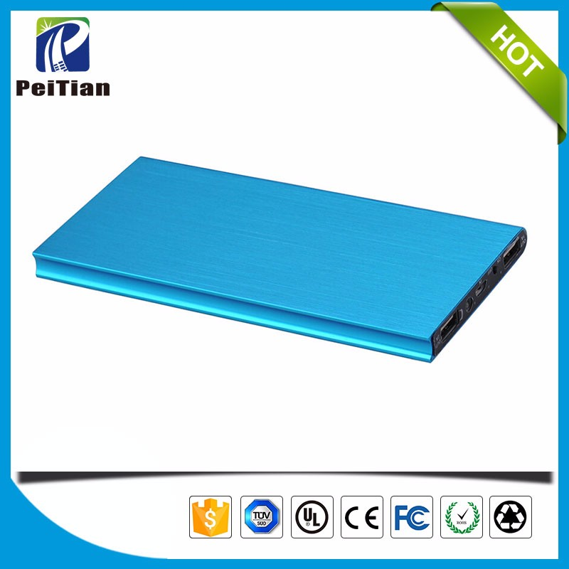 Super slim metal wiredrawing craft book-shape 10000mAh polymer power bank