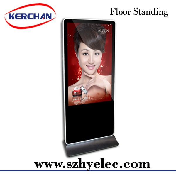 "55"" LCD Multimedia Display Indoor Stand Digital Signage Advertising Player for Public"