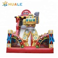 Guangzhou robot inflatable bouncy castles dry slide for children