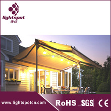 large side double retractable awning free standing balcony awning for car parking