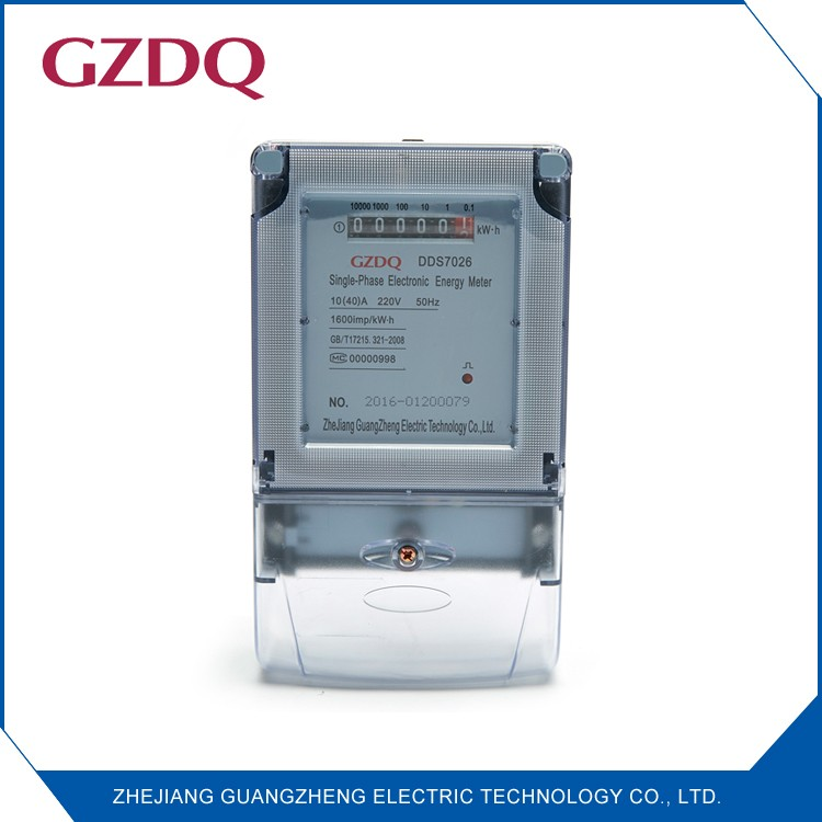 Analog and digital customized single phase electronic power meter,single phase two wire electric meter