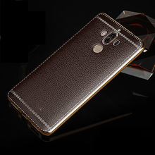 Real leather back cover case for huawei Mate 9 lichee pattern genuine leather phone case for huawei Mate 9