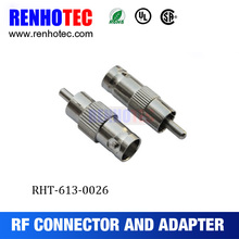 Straight F Female to RCA Male adapter 180 degree