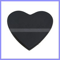 Black Color, Magic PU Gel Material Heart Shape Sticky Pad
