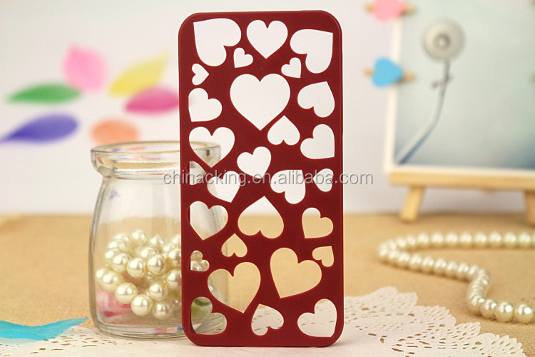 Cute Candy Color Loving Heart Hard Phone Case Cover For iPhone 6 6s